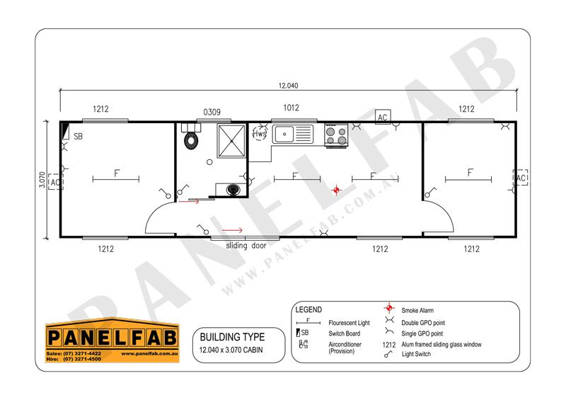 Portable 2 Bedroom Cottage Diagram