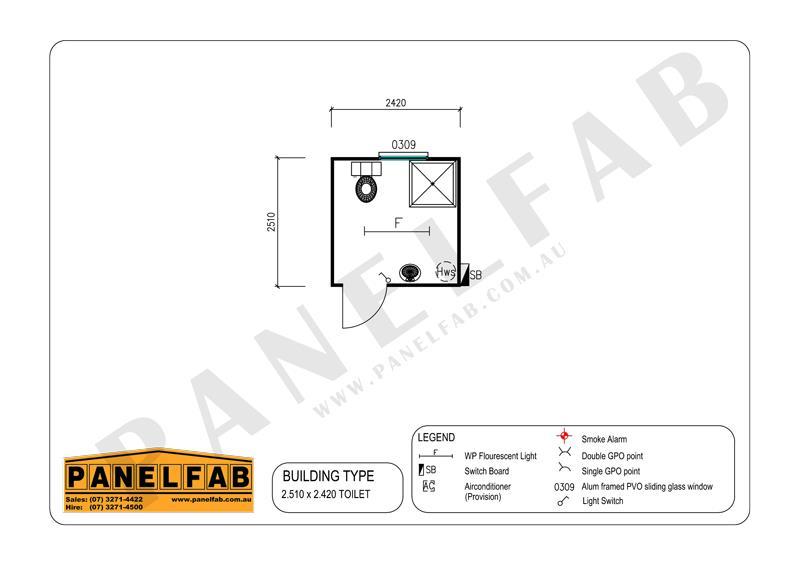 Portable Toilet & Shower Diagram