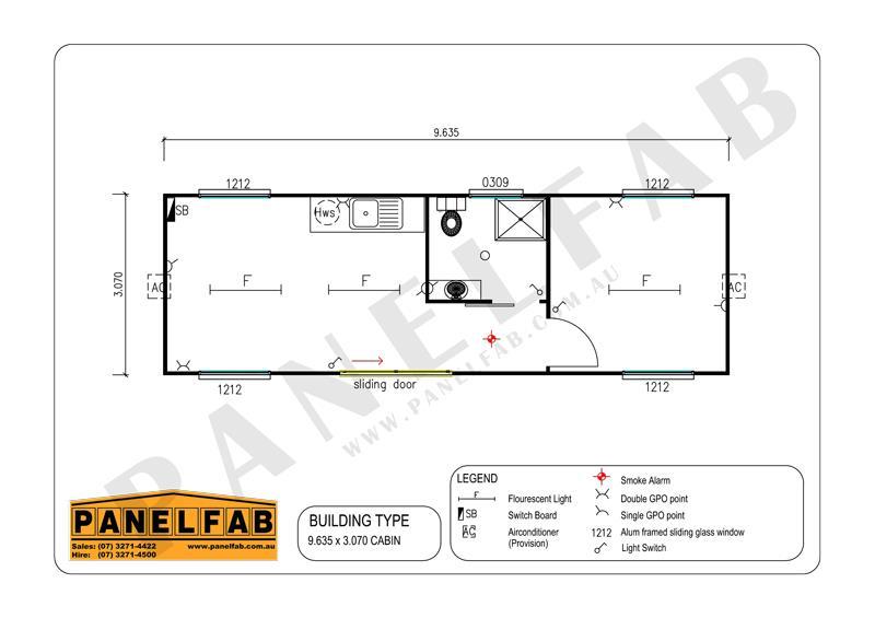Portable 2 Bedroom Cabin with Ensuite Diagram