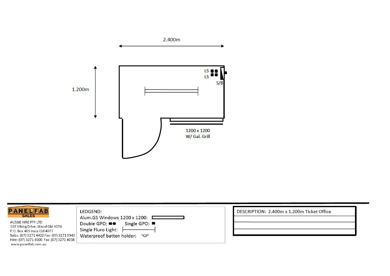2.4x1.2m Floor Plan